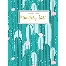 Monthly Bill Planner And Organizer: monthly budget planner cactus   3 Year Calendar 2020-2022 Budget Planner   Weekly Expense Tracker Bill Organizer ... mom aunt (Financial Planner Budget Book)