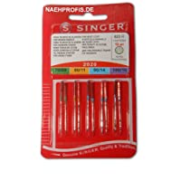 Singer 2020 130/705H Sewing Machine Needles / Thickness 70/09 to 100/14 for Woven Fabric / Set of 10