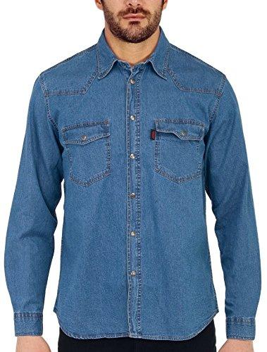 Sea barrier camicia uomo manica lunga in jeans extra art new tonga