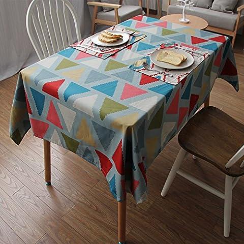 MEICHEN-Il cotone modello geometrico tavolino Tovaglie Tovagliette,triangolo,cuscino 60*60
