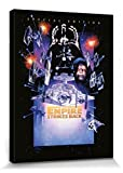 1art1 Set: Star Wars, Episode V, Das Imperium Schlägt Zurück Poster Leinwandbild Auf Keilrahmen (80x60 cm) + 1x Aktions-Home-Deko Artikel
