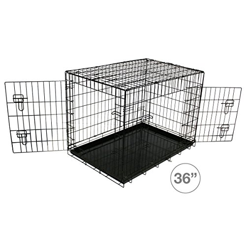 Bentley Pets - Hundekäfig/Hundebox/Transportbox für Hunde - Metall - Wetterfest - 91,5 cm
