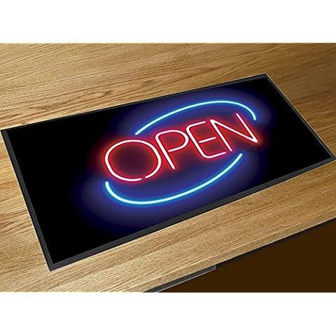 Cartello luminoso al neon con scritta