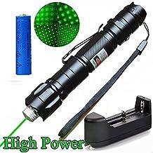 Areanas De alta potencia 532nm Verde haz de rayos UV PowerPoint remoto Clicker Demo Pen puntero Proyector viajes al aire libre linterna (incluye batería 18650+ cargador)
