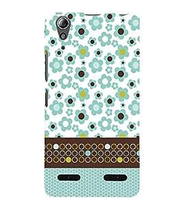 Floral Pattern 3D Hard Polycarbonate Designer Back Case Cover for Lenovo A6000