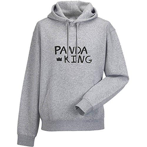 PANDA KING Felpa con cappuccio unisex Grigio