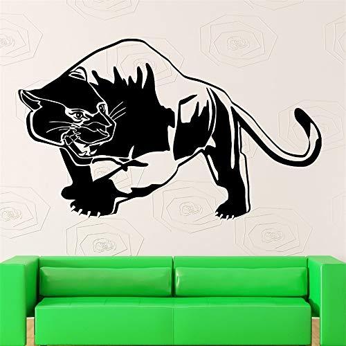 Tiger Panther Muurstickers Raubtier Dier Tribal Decor Vinyl Aufkleber gelb 72cm X114cm