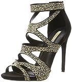 Buffalo Shoes Damen RK 1606-215 Microfiber Knöchelriemchen, Mehrfarbig (Black 01), 37 EU