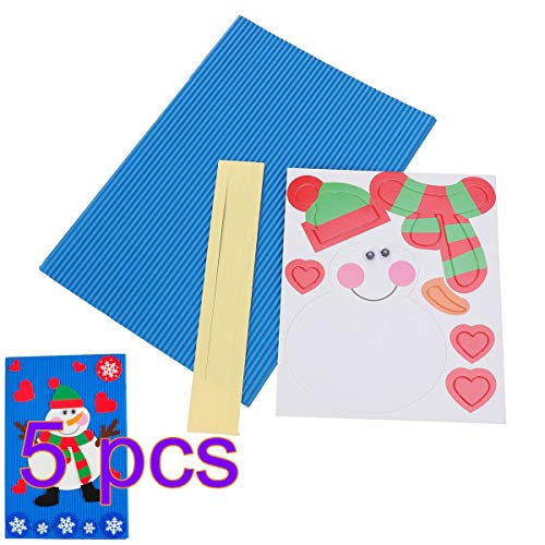IY Weihnachten Karte Weihnachten grußkarte handgemachte wellpappe Handwerk mit schneemann Muster Weihnachten Geschenke Party Favors ()
