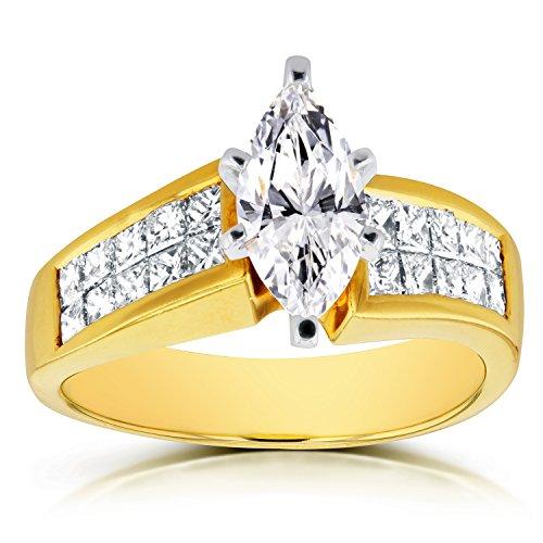 Anelli Intelligent Da Donna 14k Bianco Oro 3 Pietra Originale Diamante Fidanzamento To Rank First Among Similar Products Gioielli Di Lusso