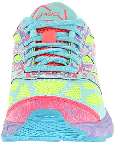 Asics Gel-Noosa Tri 10 GS Synthétique Chaussure de Course Flash Yellow-Turquoise-Diva Pink