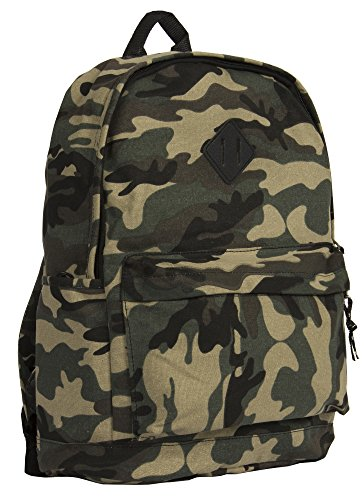 Big Handbag Shop, zaino da viaggio grande, con zip e Tasche, unisex, leggero, fantasie varie camouflage