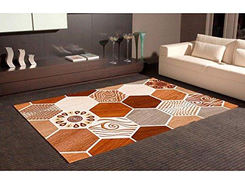 Alfombra Hexagonal Marrones PVC | 95 cm x 200 cm |