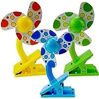 Tragbarer Kinderwagen-Ventilator für Babys, Mini-Clip auf Kinderwagen, Blau