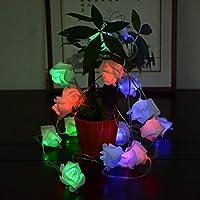 inkint pile della lampadina 20 del fiore della Rosa String Luci LED pareti Per Natale Festival festa di nozze coperto casa decorazione esterna - Led Si Illumina Di Nozze