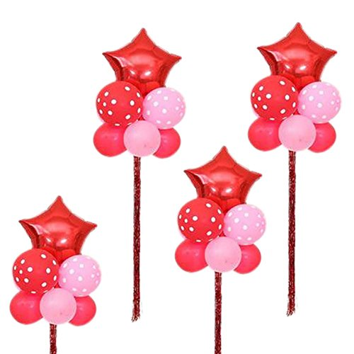 Koala Superstore Geburtstag Latex Party Hochzeit Herzförmige Stern Ballons Set 4 Arrangieren in Gruppen