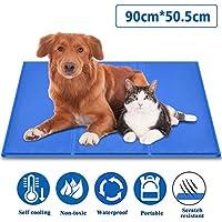 Fyore Alfombrilla refrescante para Mascotas Grandes Perro Gato Autoenfriamiento Manta de Dormir Fresco Perros/Gatos Perfecta para Camas de Suelo Couch Auto 50*90cm Antideslizante