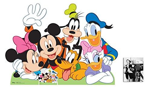 Mickey Mouse und Freunde Lebensgrosse Pappfiguren / Stehplatzinhaber / Aufsteller - Enthält 8X10 (25X20Cm) starfoto (Mouse Pappaufsteller Mickey)