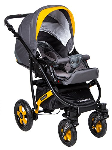 Baby Pram Pushchair Stroller Buggy, Travel System Camarelo Carera Ca17 3in1