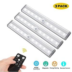 LED Unterbauleuchten, 3 PCS Fernbedienung Küche unter Kabinett Beleuchtung Schwenkbar Lichtleiste Küchenleiste Dimmbare Timer LED Küchenleuchte Schrankleuchte
