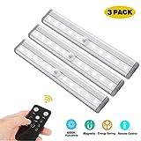 NOTENS Lámpara del gabinete del LED, 3 Pack gabinete de iluminación Barra de luces giratoria Tira de cocina del temporizador
