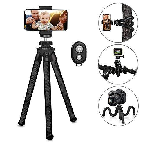 Ubeesize flexibles Telefon Stativ langlebige Kamera Stativ mit Bluetooth-Fernbedienung für Nikon Canon Sony Panasonic DSLR Gopro und iPhone / Samsung / Andriod Handys robuste Stativ - wasserdicht