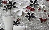 ADDFLOWER Carta da parati in calcestruzzo Texture 3D Vaso di fiori per soggiorno Tv sfondo 3D Parete carta da parati Papel murale Carta da parati 3D Flwoer, 430X300 Cm (169,3 By 118,1 In)