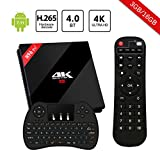 H96 Pro Plus Smart TV Box Android 7.1 4K TV Box con 3GB+16GB Amlogic S912 Octa-core 64 Bits CPU Dual WiFi 2.4 GHz/5.0 GHz Bluetooth 4.1 H.265 y Mini Teclado Inalámbrico