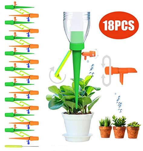 Hidreamz 18 picchetti per irrigazione a goccia automatica, sistema di irrigazione a lento rilascio per piante, per interni ed esterni