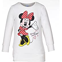 DISNEY Niñas Minnie Mouse Sudadera, blanco