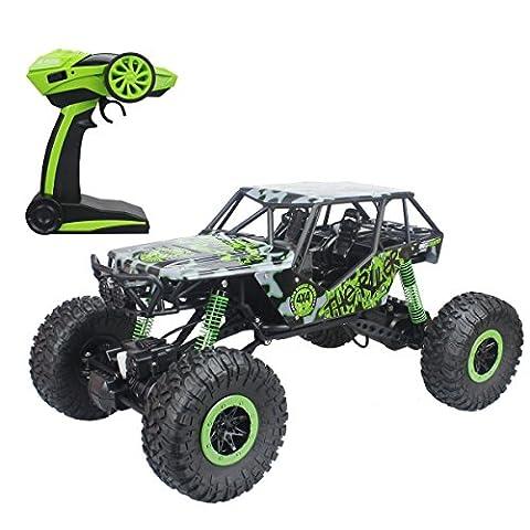 Hugine super grand 1:10 échelle RC voiture hors véhicule routier 2.4Ghz 4WD buggy télécommande monstre camion hobby jouets pour les enfants (Vert)