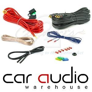 watt gauge awg complete car amplifier wiring kit amazon 1200 watt 8 gauge awg complete car amplifier wiring kit amazon co uk electronics