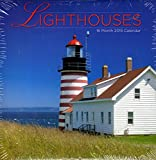 16 Monate 2015 Wandkalender 12 inch x 24 inch Lighthouses