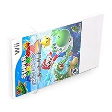 10 Klarsicht Schutzhüllen Wii [10 x 0,3MM Wii] Spiele Originalverpackungen Passgenau Glasklar