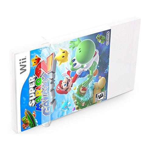 Super Spiele Bros Smash 360 Xbox (10 Klarsicht Schutzhüllen Wii [10 x 0,3MM Wii] Spiele Originalverpackungen Passgenau Glasklar)