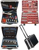 Famex 606-09 Werkzeug Komplettset High-End Qualität in Trolley ABS Schalenkoffer 36L mit 173-teiligem Steckschlüsselsatz