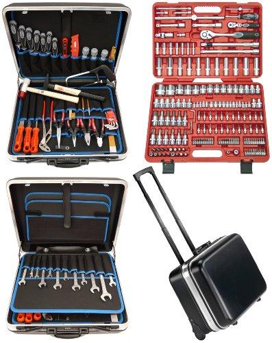 Famex 606-09 - Set completo di attrezzi, ottima qualità, in cassetta ABS 36 l, con set 173 chiavi a tubo