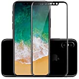 Mobitech I Phone X 5D Round Curved Edge To Edge (Front+Back) Tempered Glass Protective For IPhone X (Ten) (Black)