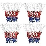 Blu Accessori per Sport allAria Aperta Bianca Barukra Rete da Basket in Nylon Resistente Standard Rete da Basket Rete da Basket Rossa
