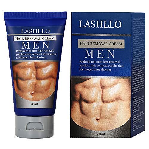 Haarentfernungscreme Enthaarungscreme Männer, Enthaarungsmittel, Hair Removal Cream Schnell und Einfach Haarentfernung, Lässt die Haut sanft, PLUS 1 Kunststoffschaber