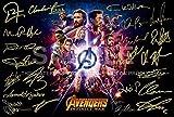 Avengers poster infinity War firmato PP da 22Rdj, Stan Lee, Chris Pratt, tom Hiddleston, Chris Hemsworth Chris Evans, Black Panther, Spiderman, Capitan America, Iron Man 30,5x 20,3cm photo Gift