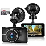 OldShark Dash Cam (32GB Card Included),1080P HD Car Driving Video Recorder Built in G-Sensor,Night Vision,Parking Monitor,Motion Detection,Loop Recording,170 Wide Angle View,Metal Shelled Dashboard Camera