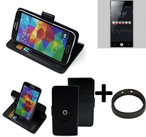 K-S-Trade® Case Schutz Hülle Für -ID2ME ID1- + Bumper Handyhülle Flipcase Smartphone Cover Handy Schutz Tasche Walletcase Schwarz (1x)
