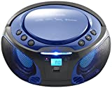 Best Portable Cd Player Bluetooths - Lenco SCD-550 Blue | Portable Stereo FM Radio Review