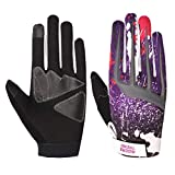Riders Trend 10010105 Cross Country/Motocross Bicycle Riding Gloves, Guanti Uomo, Black/Purple, M