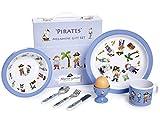 Martin Gulliver Designs Pirates Melamine Gift Set, Multi-Colour, 23 x 23 x 7 cm