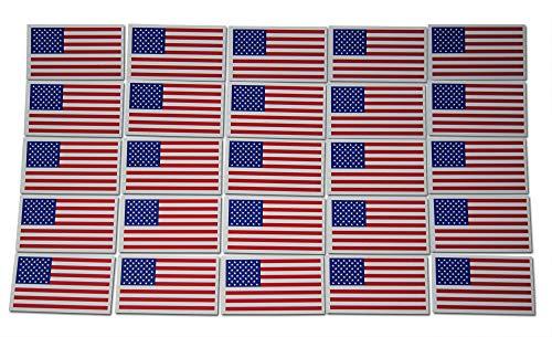 Blaue National Guard (Kleine Amerika-Flagge Patriotische Militär Magnete Set mit 25 Mini-Rechtecken in klassischem Rot, Weiß, Blau)