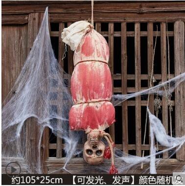 Halloween, Spuk Haus Dekoration, Horror Requisiten, Schädel, hängen Geist, Horror Dekoration,105 * 25CM (Geist Halloween Animierte Requisiten)
