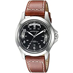 Hamilton KHAKI FIELD KING AUTO H64455533 40 Automatic Stainless Steel Case Brown Leather Men's Watch