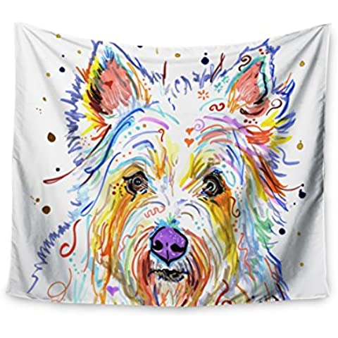 "KESS CMY 68 x 80 Rebecca Fischer ""Bella Scottish Terrier Collegio Dorm Room da parete"